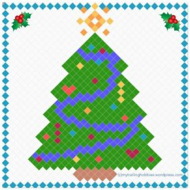 Christmas Tree Pixel Graph Pattern - free crochet pattern ©mytrailinghobbies.wordpress.com